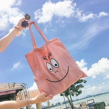 Anime Cartoon Cute Barbapapa Tote bags Coin Pocket Soft Stuffed Shopping bag girls pink canvas bag