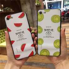 For iPhone 7 7 Plus Relief Simple Cartoon Fruits PC shell Casing Capa Back Cover Hard PC Phone Cases For iPhone7 6S Plus Coque(China)