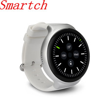Smartch Smart Watch I4 MTK 6580 1G Full Circular AMOLED Screen Support WiFi Video GPS MIC SIM Heart Rate Monitor Waterproof For