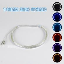 2x 146mm Angel Eyes 3528 57SMD Ring LED  DRL Headlight Semicircle For BMW E46 Car Led Light With Lampshades Car Light Sourcing