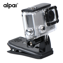 Aipal Action Camera Accessories 360 Degree Rotary Backpack Hat Clip Clamp Clips Mount With Screw For Aipal Gopro Xiaomi Yi SJCAM