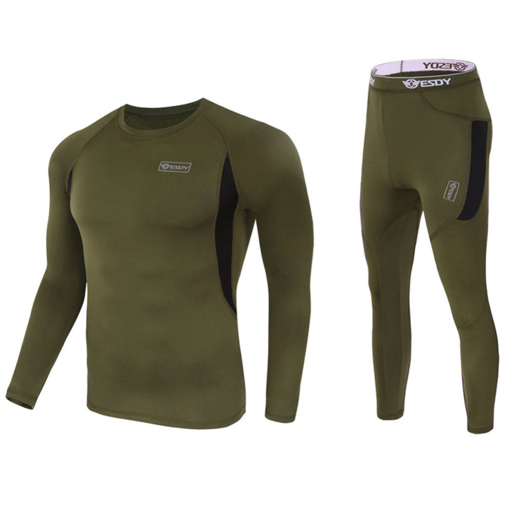 Outdoor Tactical Winter Warm Sports Clothing Running T-shirts and Pants Sets Hunting Underwear Breathable Thermal Underclothes<br>