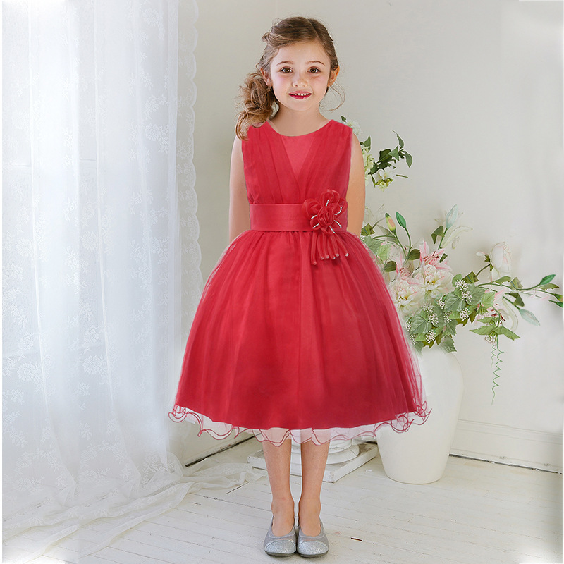 Christmas dress Halloween costume child Ballroom dress curve exquisite girl Elegant dress girl Girl in New Year dress<br>