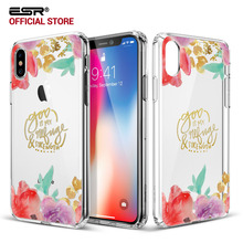 Case for iPhone X, ESR Soft TPU Bumper Edge Hard PC Back Cover Fashion Printed Pattern Clear case for iPhoneX 10 5.8 inches 2017(China)