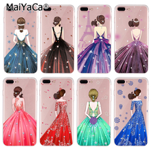 MaiYaCa Phone Case For iPhone 8 plus Case The latest the bride's wedding clothes silicone cover for iphone 8plus case(China)