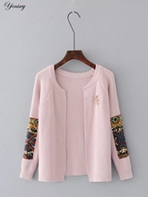 2017 Real Direct Selling Sleeve Pull Cardigan Women Tc36-6122 Fashion Cardigan Sweater Embroidered 0723