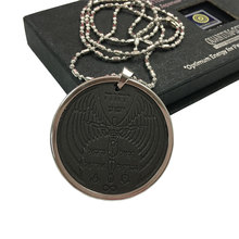Angel Spiritual Quantum Scalar Energy Pendant/Charms Health Lava Stone Pendant with Stainless Steel Chain 5000cc Ions 2pcs/lot
