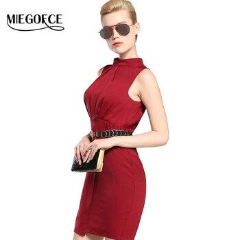 Mujeres otoño equipada vestidos de traje 2016 miegofce nuevo otoño collectionwomen bajo vestidos de estilo europeo de alta calidad