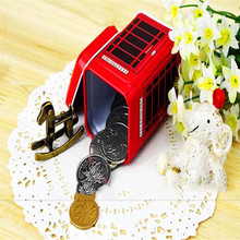 MAIOUMY Telephone booth tank storage Metal organizer bubm cover Candy Trinket Tin Jewelry Iron Tea Coin Storage Square Box Case