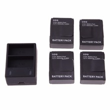 Gopro Acessories 4pcs/lot 1600mAh AHDBT-302 AHDBT-301 Batteries + Dual Battery Charger for GoPro HD HERO3,3+