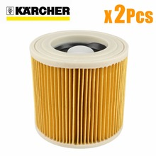 2Pcs/lot replacement air dust filters bags for Karcher Vacuum Cleaners parts Cartridge HEPA Filter WD2250 WD3200 MV2 MV3 WD2 WD3