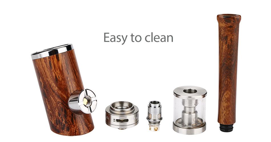 Original Kamry K1000 Plus E-Pipe Kit E-cigarette with Extra 5pcs K1000 Plus Atomizer Coil Wooden E Pipe Mod and 1100mAh Battery 5