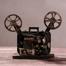 Europe LOFT Style Resin old-fashioned Projector Model Antique Imitation TV Bar Home Decor Gifts Crafts(China)