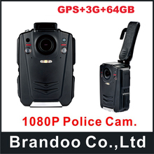 Ambarella A12 Police Body Worn Camera 64GB GPS 1080P Night Vision+3G function