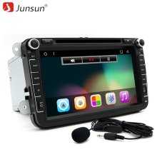 Junsun Car DVD Radio Player Audio 8 inch Android 6.0 GPS Navigation Double Din For VW GOLF 4 5 Polo Bora CC JETTA PASSAT Tiguan(China)
