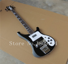 Wholesale - 4 strings bass 4003 black electric bass guitar silver hardware China Guitar HOT SALE