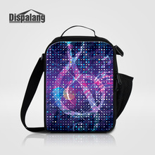 Dispalang Thermal Insulated Lunch Bags For Women Kid Food Picnic Lunch Bag Musical Note Pattern Cooler Bag Men Portable Lunchbox