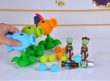 Hot sale 23 Style New Popular Game PVZ Plants vs Zombies Peashooter PVC Action Figure Model Toys 10CM Plants Vs Zombies Toys(China)