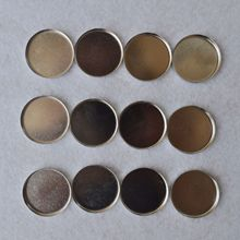 12pcs Empty Round Tin Pans for Eye shadow Palette 26mm Responsive to Magnetic Makeup palette(China)