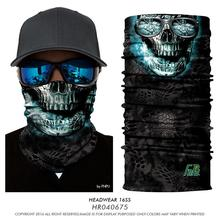2017 NEW Magic Seamless Scarf Skull Fishing Cycling Headwears Headband Motorcycle Neck Bandana 3D Human Face Fish Bandana Scarf