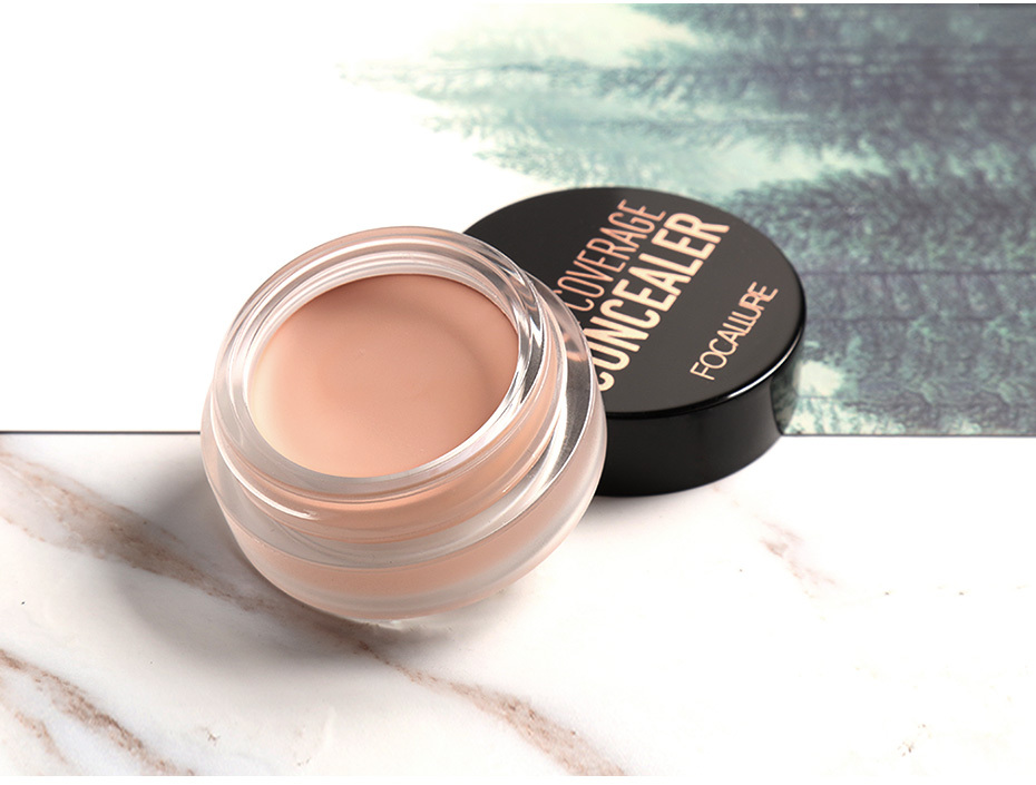 FOCALLURE 7 Colors Full Cover Concealer cream Makeup Primer Cover Foundation Base Lasting Oil Control Cream Concealer 11