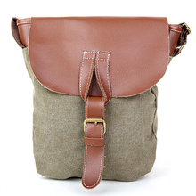 women crossbody shoulder bags PU+ Canvas women messenger bags new casual vintage bucket bag high quality bag