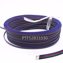 2m 5m 10M 20m 50m 4 Pin Extension RGB+Black Wire Connector Cable For DC5V Ws2801 Ws2812b DC12V 3528 5050 RGB LED Strip light(China)