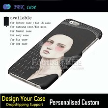 Desin Your Own Custom Made 3d fashion Cheap Mobile Phone Case for iPhone 6 6S Plus 5.5 inch,Hard Plastic With Goddess of Cool