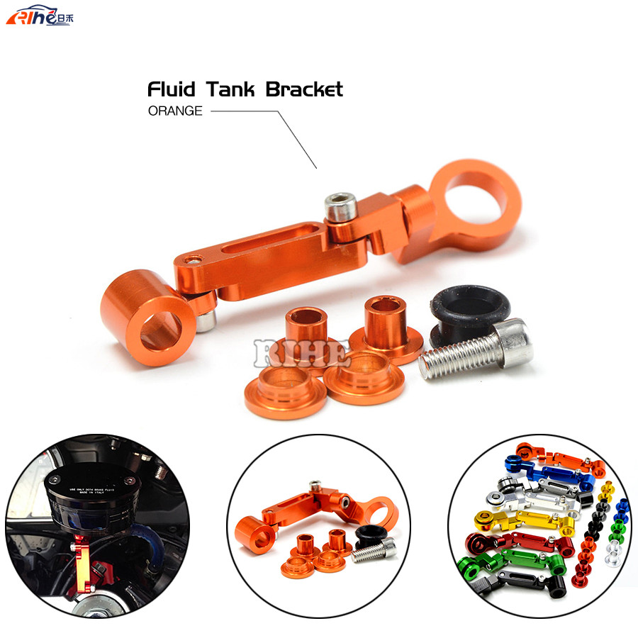 Universal motorcycle CNC Brake clutch pump fluid reservoir tank bracket for KTM 390 Duke 690 Enduro R 690 Duke / SMC / SMCR BMW<br><br>Aliexpress
