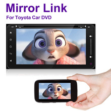 Quad Core car dvd android 4.4 double din gps navigation Wifi+Bluetooth+Radio for Toyota Hilux Camry Corolla Prado RAV4