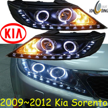 KlA Sorento headlight,2009~2012 (Fit for LHD and RHD),Free ship!KlA Sorento daytime light,Sportage