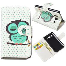 Cute Printing Wallet Case for HTC Desire HD G10 A9191 PU Leather Case with ID Card Holder and Stand 5 Colos Free Shipping(China)