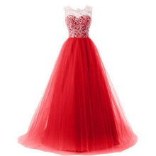 Girls Long Dress for Party Wedding Kids Lace and Tulle Patchwork Flower Girls Clothing Teens Girls Prom Ceremony Pageant Gowns(China)