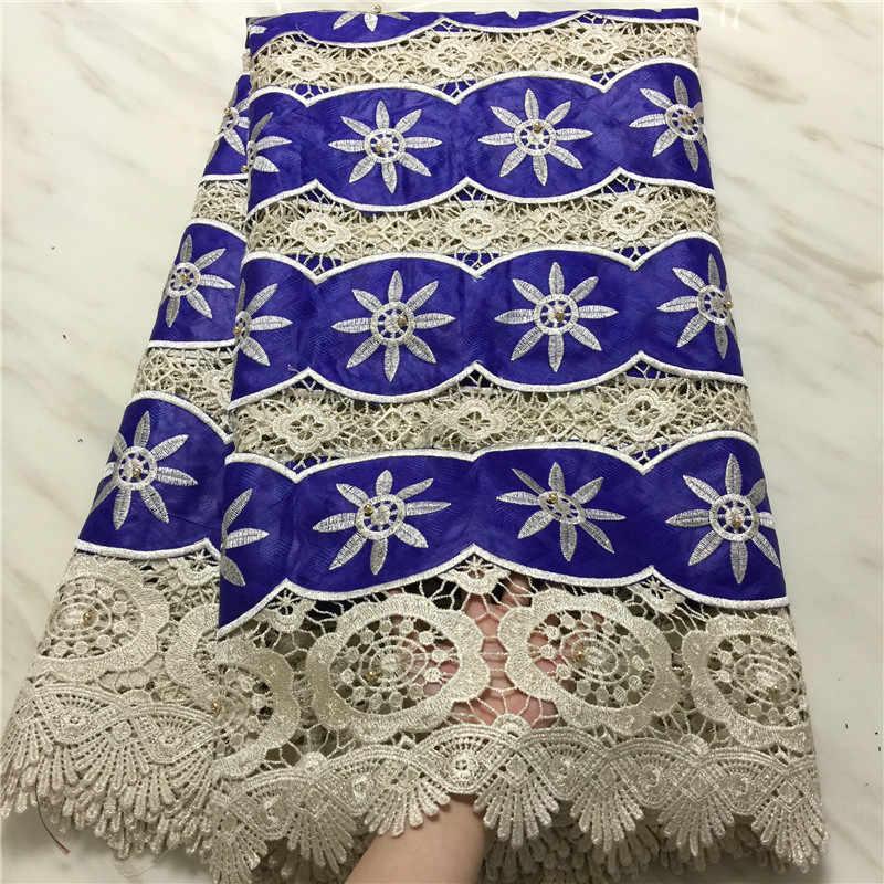 d52a78f51c7 Благословение tissu африкен вышитая ткань гипюр кружевной ткани с бисером  шнур кружевной ткани с bezin для