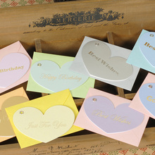 32 sets of Happy Birthday,Best Wishes,Thank you Card,Heart Shapes Small Cards For Multi-purpose Gift Supplies(China)