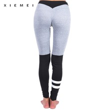 Buy High waist patchwork sporting leggings Hips Sexy workout fitness legging femme activewear Elasticity gyms printed calzas women for $7.57 in AliExpress store