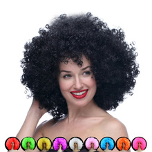 Halloween Wig Afro wigcosplay Harajuku Anime Party Wig Oversized Multicolour synthetic wigs For Ball Fans Halloween(China)