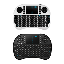 2.4G Rii Mini i8 Wireless Keyboard for PC Pad Google Andriod Smart TV Box PS3 Laptop Black Qwerty With Touchpad Gaming Teclado(China)