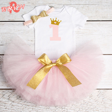 Newborn Baby Girl Clothes Sets Toddler Bebes Clothing 3pcs Suits 1st Birthday Baby Born Cake Smash Outfits Infant Clothing Sets