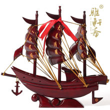 Rosewood crafts dragon boat sailing model Everything is going smoothly. solid wood feng shui ornaments Home Furnishing business(China)