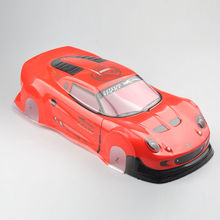 190MM Painted 1:10 RC Model Car PVC Body Shell+Rear Wing 1/10 RC Car Model Accessories 03R Red Body Shell