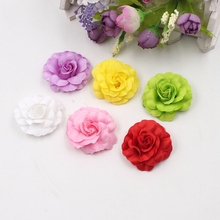10pcs 4cm High Quality Artificial Silk Rose Wedding Family Party Corsage Decorative Scissor Wallet DIY Wallet Gift Craft Flower