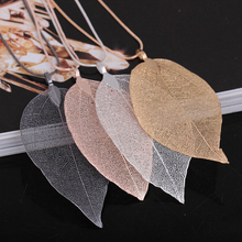Buy 4Color Shellhard Natural Leaf Necklaces & Pendants Charms Long Leaves Sweater Chain Statement Necklace Fashion Jewelry Women for $1.03 in AliExpress store