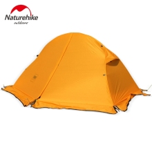 1.3KG Naturehike Tent 20D Silicone Fabric Ultralight 1 Person Double Layers Aluminum Rod Hiking Tent 4 Season With Camping Mat(China)