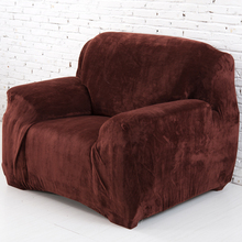Svetanya Plush Fleece Sofa Cover Slipcovers Couch Case for different Shape Sofa all-inclusive slip-resistant