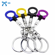Trailer Hook Keychain Key Chain Auto Part Keyring Ring Towing Creative Gifts Key Fob Turbo Car Accessories For Opel Dodge