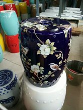 Flowers and birds Jingdezhen porcelain Garden stool ceramic stool for dressing table chinese blue hand painted garden stool