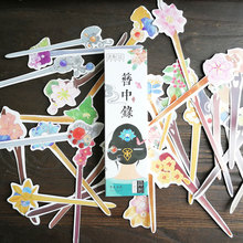 30pcs/box Chinese classic hairpin paper bookmarks Heteromorphism book holder message card kawaii stationery zakka school supplie