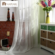 Modern linen white tulle curtains white window drapes lace living room curtain sheer fabrics panel balcony kitchen curtains(China)