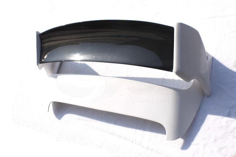 2008-2010 Subaru Impreza GRB STI Varis Style FRP Rear Spoiler with CF Blade (16) -